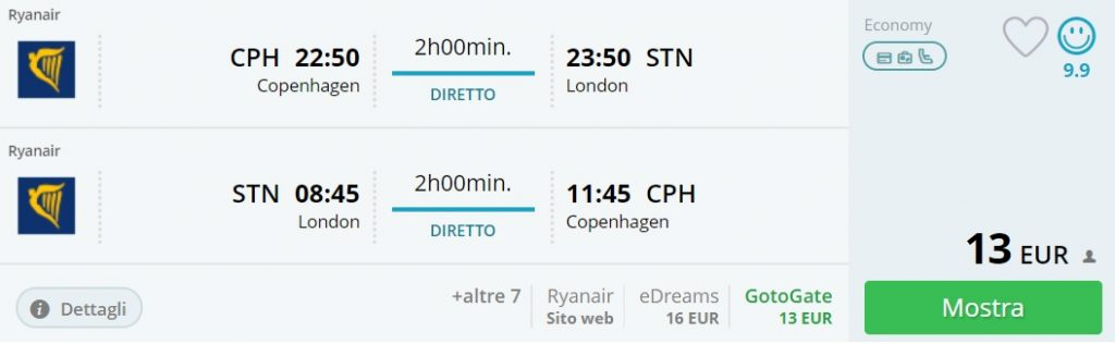 cheap flights scandinavia london