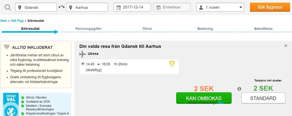 flights gdansk aarhus