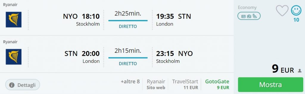flights scandinavia london