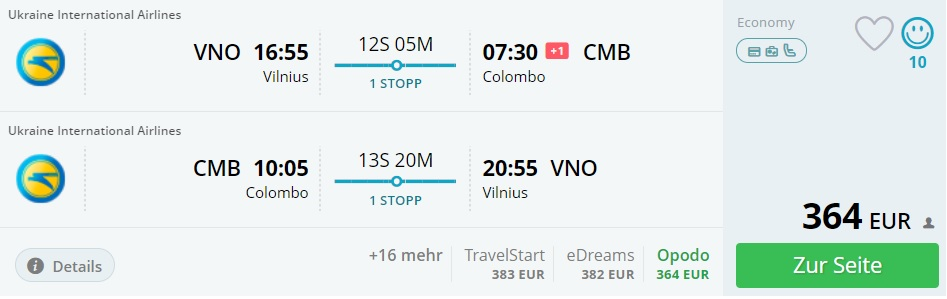 flights to sri lanka from baltic states riga vilnius