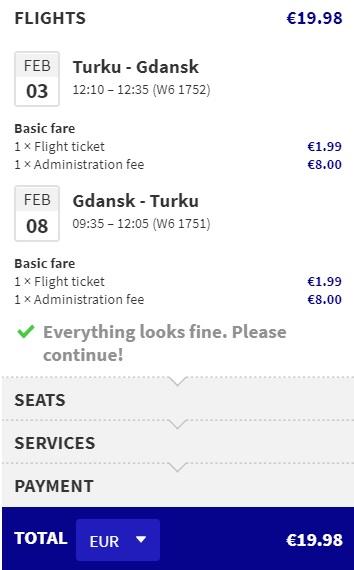 cheap flights turku gdansk