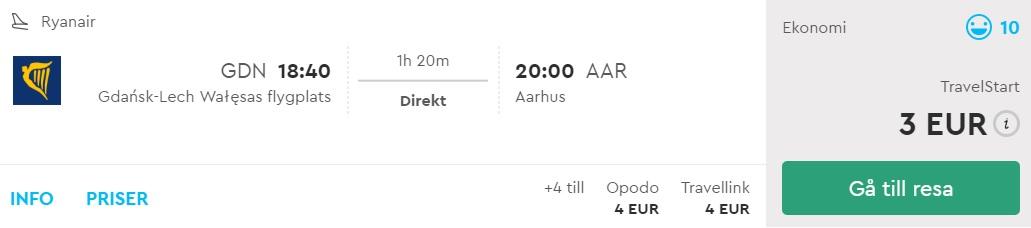 cheap flights gdansk aarhus