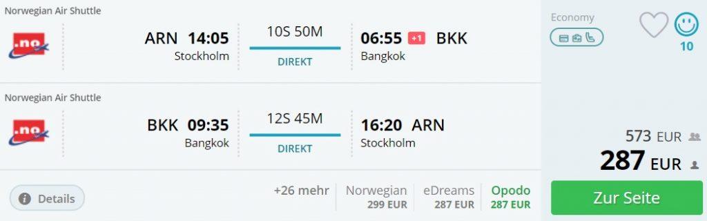 stockholm to bangkok