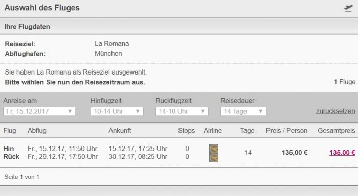 xmas flights from munich to dominican republic