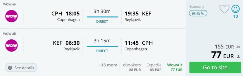 Summer flights to ICELAND from Copenhagen