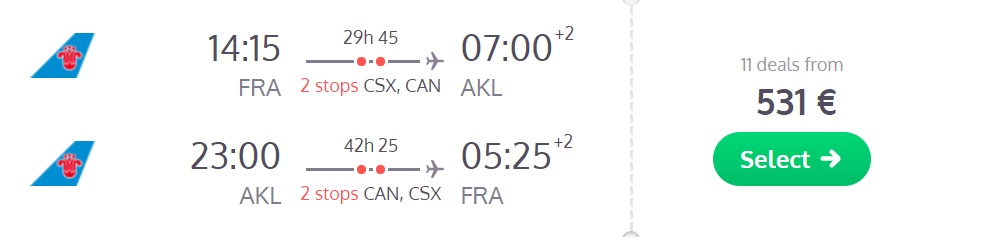 cheap flights frankfurt auckland new zealand