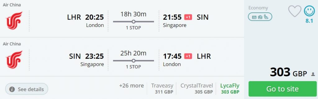 cheap flights from london singapore