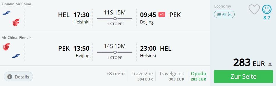 cheap flights helsinki beijing china