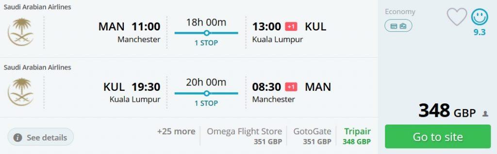cheap flights manchester malaysia