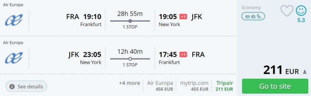 error fare flights frankfurt new york