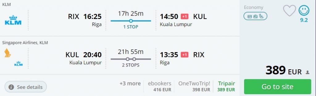 flights riga malaysia