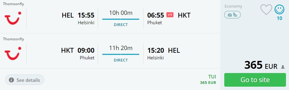 last minute direct flights helsinki phuket