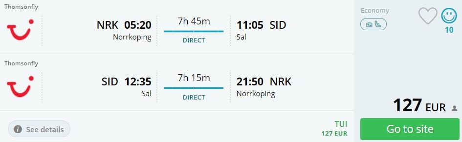 last minute flight sweden cape verde