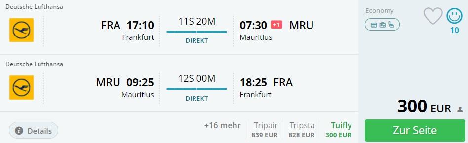 last minute flights frankfurt mauritius