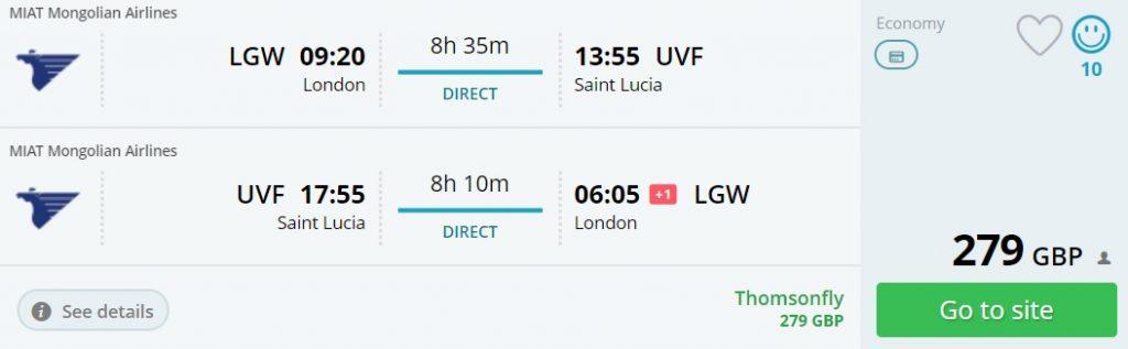 non stop flights uk cuba