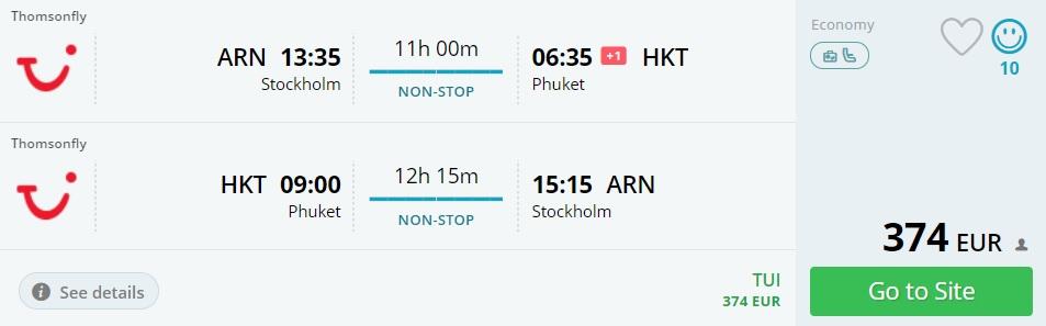 stockholm to phuket