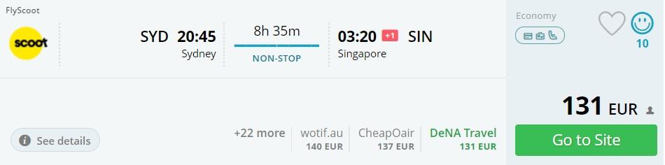sydney singapore