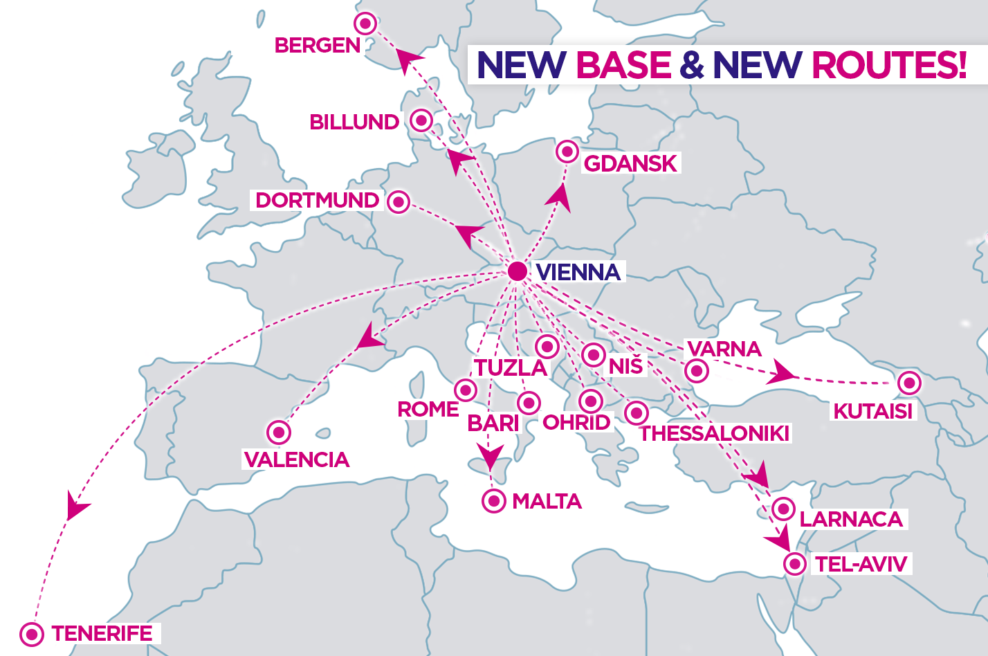 Wizzair 17 new routes from vienna austria travelfree vienna tel aviv vienna from 15 june vienna tuzla vienna from 27 april vienna tenerife vienna from 27 november gumiabroncs Choice Image
