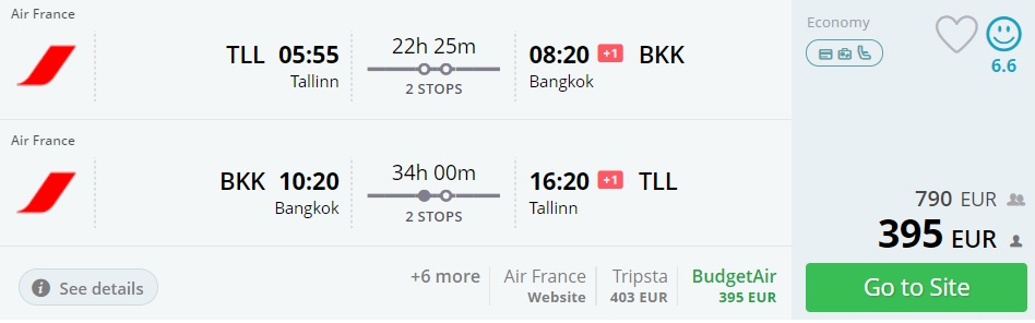 cheap flights bangkok thailand from baltics