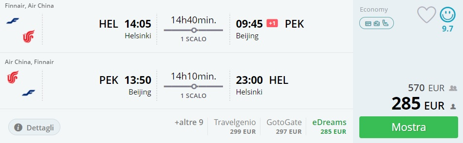 cheap flights from helsinki to beijing china