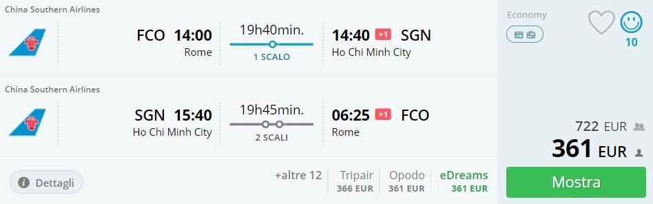 cheap flights rome ho chi minh city