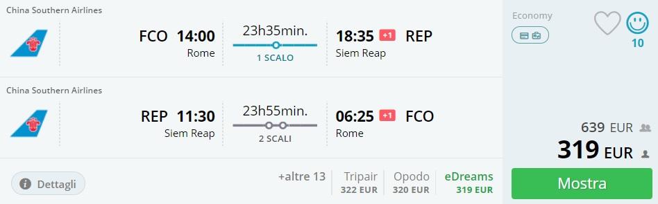 cheap flights rome siem reap
