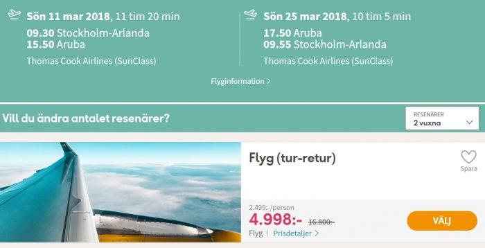 cheap flights stockholm sweden aruba
