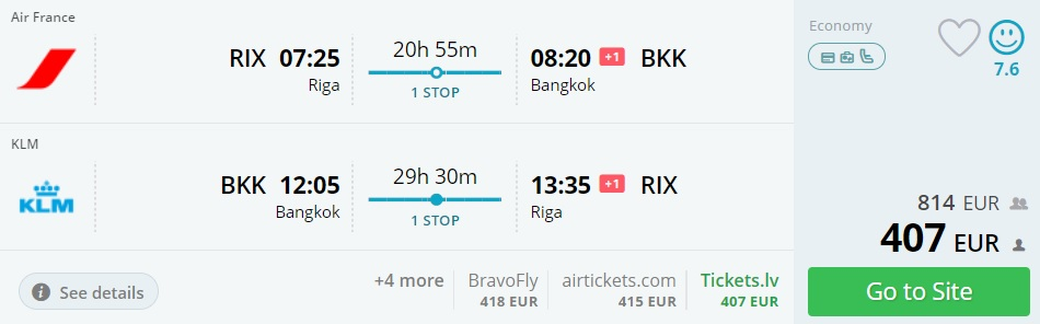 cheap flights to bangkok thailand from riga latvia
