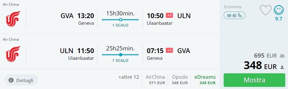 cheap flights to mongolia from switzerland