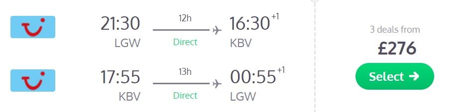 direct flights london krabi thailand