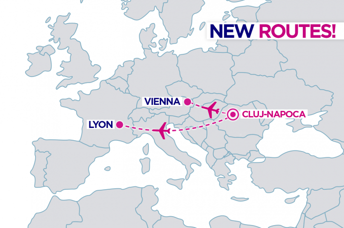 wizzair new routes from romania