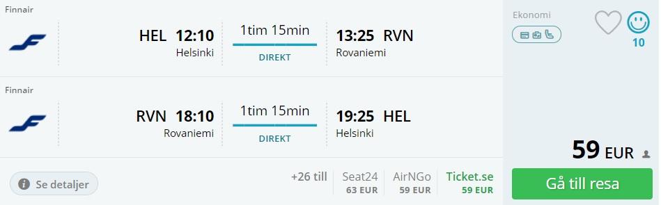 cheap flight tickets to lapland