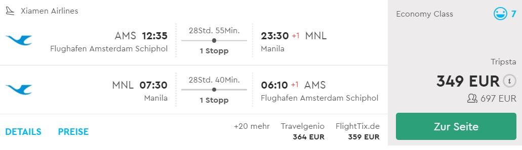 cheap flights amsterdam philippines