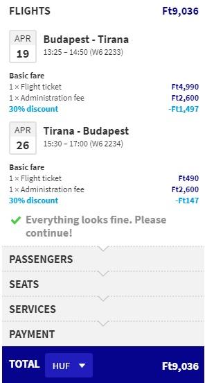 cheap flights budapest tirana albania