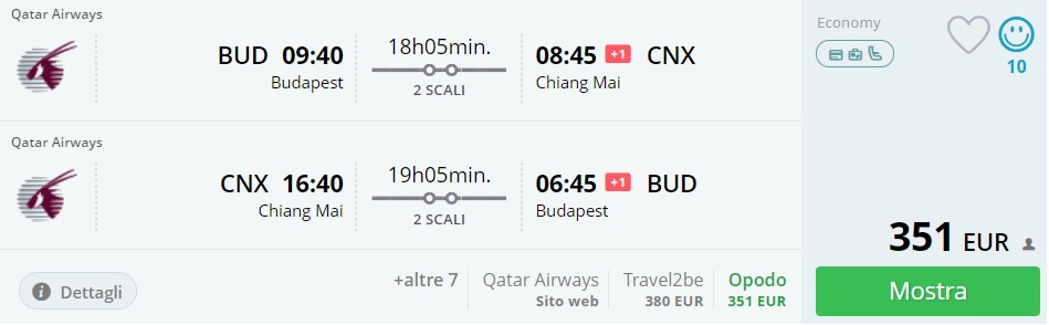 cheap flights from budapest to chiang mai thailand