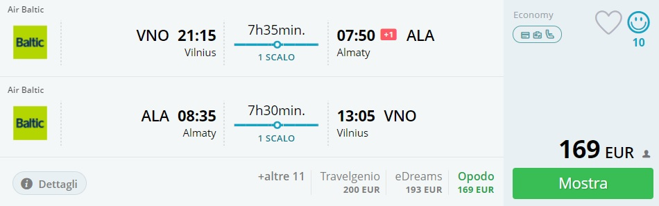 cheap flights from vilnius lithuania to kazakhstan