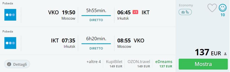 cheap flights moscow lake baikal