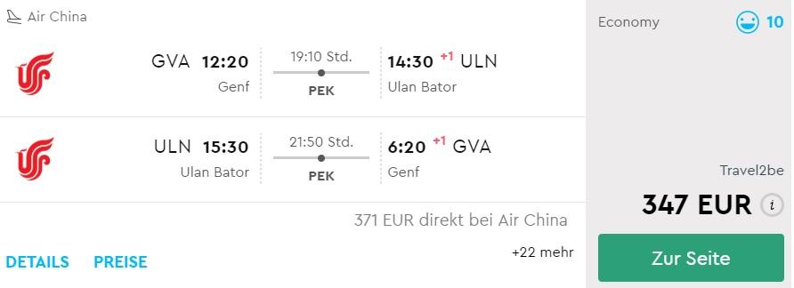 cheap flights to mongolia from geneva switzerland