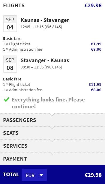 cheap flights to stavanger from kaunas lithuania