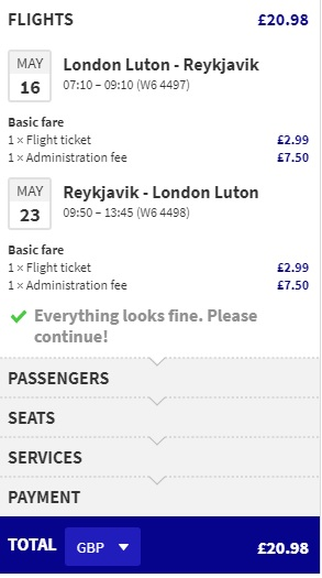 cheap spring flights from london to iceland