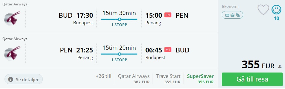 flights to malaysia from budapest
