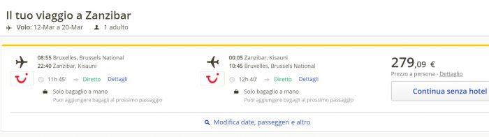 last minute flights brussels zanzibar