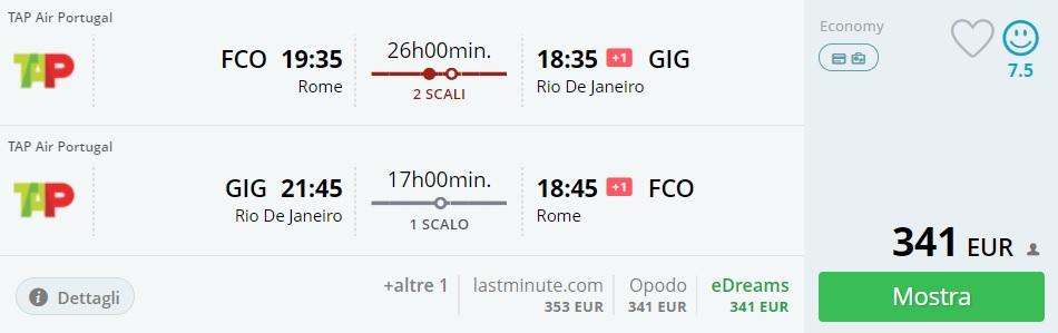 Rome Rio De Janeiro Travelfree