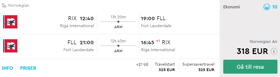 cheap flights from riga latvia to miami usa