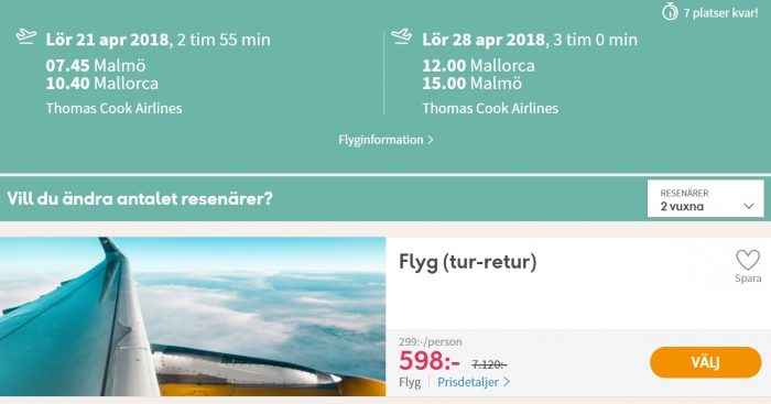 cheap flights malmo palma mallorca