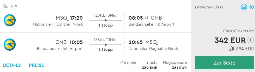 cheap flights minsk sri lanka colombo