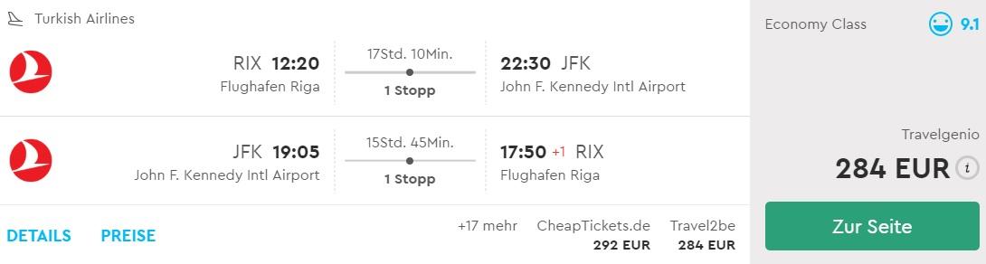 cheap flights to new york from riga latvia