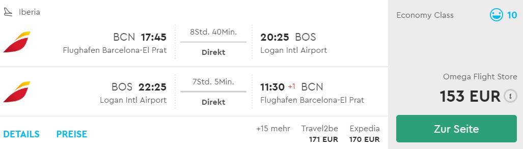 flights from barcelona to boston