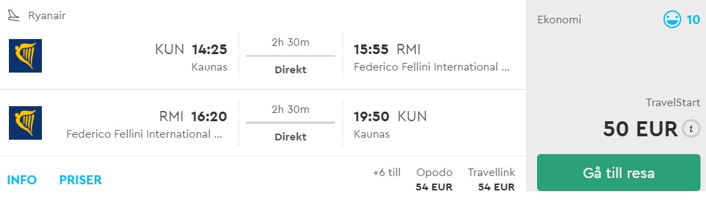 flights kaunas lithuania rimini