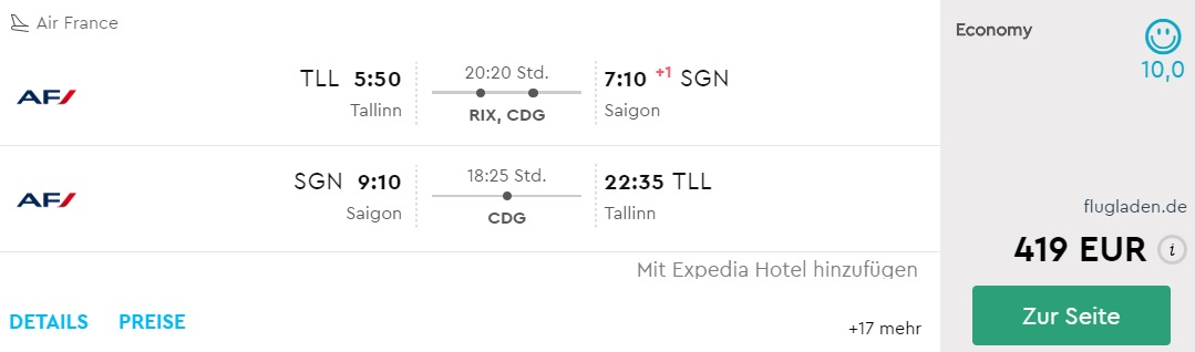 air france flights to vietnam from tallinn